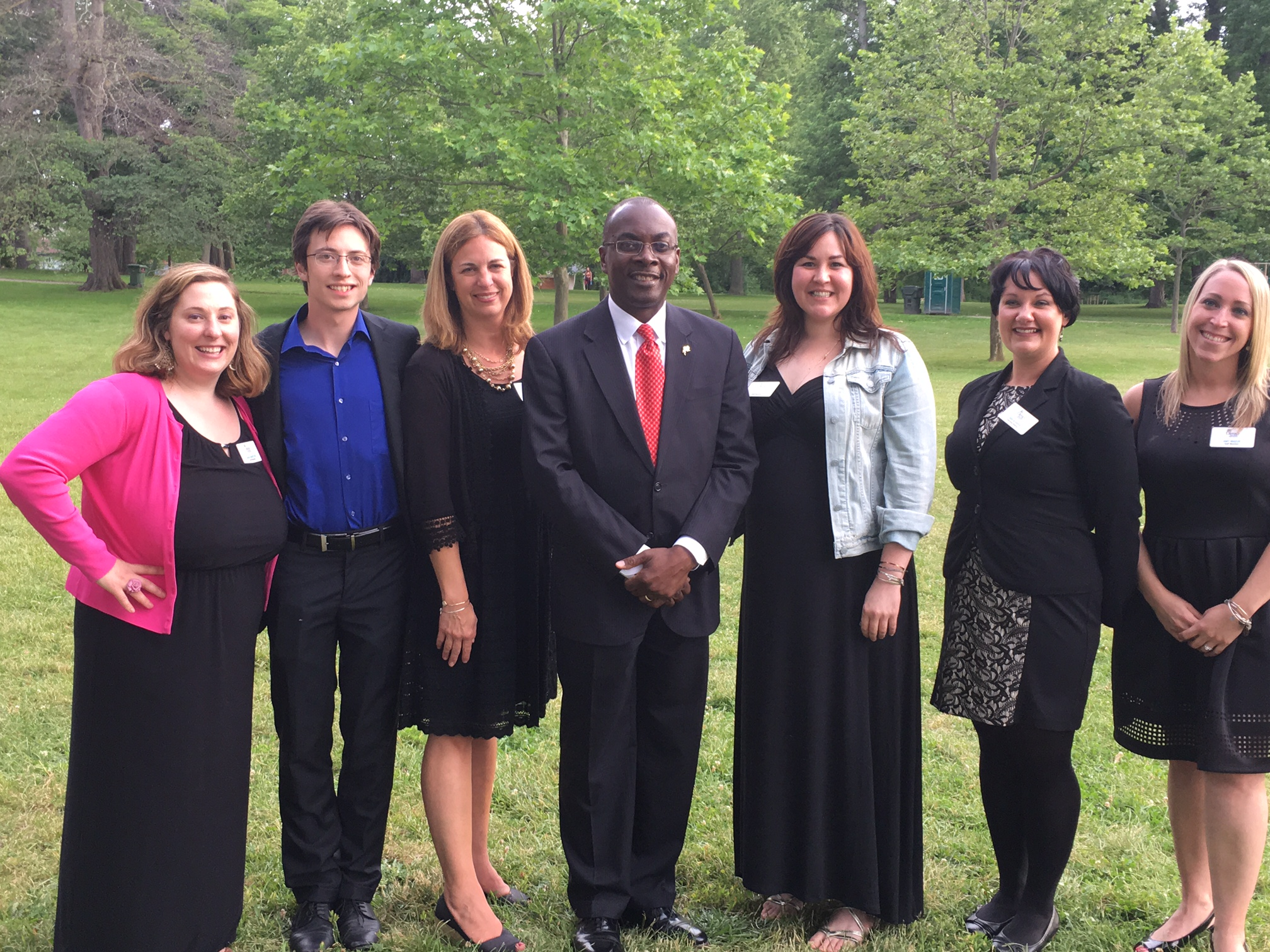 Staff of LNYBN with City of Buffalo Mayor Byron Brown