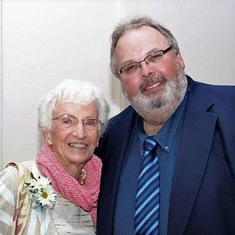 Bob Mahar with Ruth Colvin, Founder of Literacy Volunteers